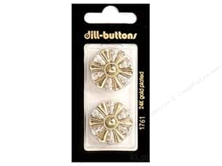Dill Shank Buttons 1 in. Gold #1761 2 pc.