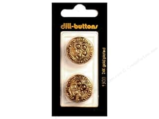 Dill Shank Buttons 7/8 in. Antique Gold #1900 2 pc.