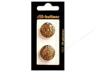 Buttons: Dill Shank Buttons 13/ 16 in. Antique Gold Metal #1929 2 pc.