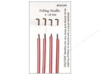 Wistyria Editions Felting Needles 4 pc. Size 38 Star
