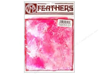 Zucker Feather Turkey Marabou Feathers 1/4 oz. Large Pink Mix