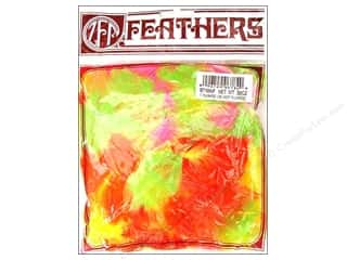 Clearance: Zucker Feather Turkey Plumage Feathers 1/2 oz. Fluorescent Mix
