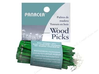 floral & garden: Panacea Wired Wood Floral Picks 2 1/2 in. 60 pc. Green