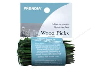 "Panacea Floral Supplies Wired Wood Pick 3"" 90pc"