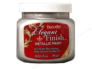 craft & hobbies: DecoArt Elegant Finish Metallic Paint 10 oz. Shimmer Silver