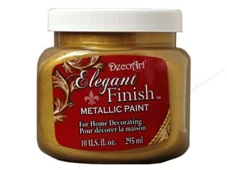 DecoArt: DecoArt Elegant Finish Metallic Paint 10 oz. Glorious Gold