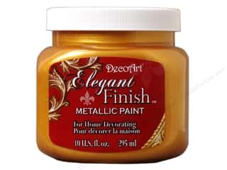 DecoArt: DecoArt Elegant Finish Metallic Paint 10 oz. Emperor Gold