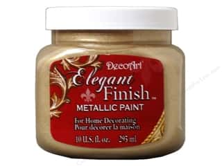 DecoArt: DecoArt Elegant Finish Metallic Paint 10 oz. Champagne Gold