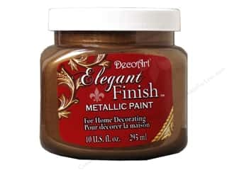 craft & hobbies: DecoArt Elegant Finish Metallic Paint - Rich Espresso 10 oz.