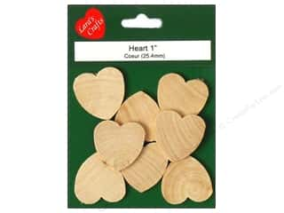 craft & hobbies: Lara's Wood Heart 1 in. 8 pc.