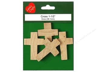 craft & hobbies: Lara's Wood Cross 1 1/2 in. 4 pc.