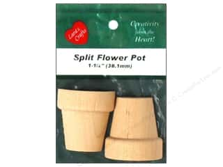 Clearance: Lara's Wood Split Flower Pot 1 1/2 in. 2 pc.