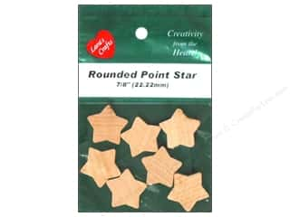 Lara's Wood Rounded Point Star 7/8 in. 7 pc.