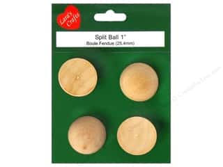 Lara's: Lara's Wood Split Ball 1 in. 4 pc.