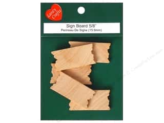 Lara's Wood Mini Sign Board 5/8 in. 5 pc.