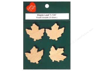 Lara's Wood Maple Leaf 1 1/4 in. 4 pc.