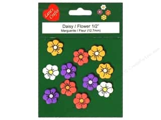 Pre-Painted Wood: Lara's Wood Painted Daisy/Flower 1/2 in. 11pc.