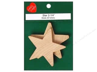 Lara's Wood Star 2 1/4 in. 2 pc.