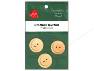 Lara's Wood Clothes Button 1 in. 3 pc.
