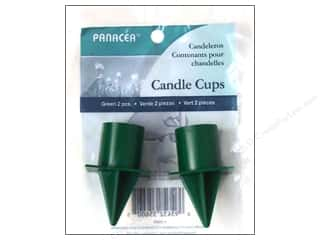 Panacea 1 in. Spiked Candle Cups 2 pc. Green