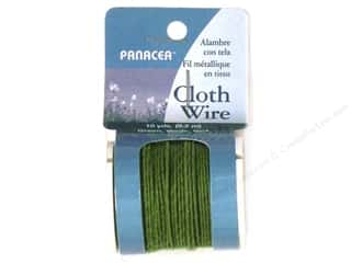 decorative floral: Panacea Cloth Stem Wire 10 yd. 32-Gauge Green