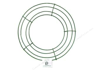 straw wreath: Panacea Box Wire Wreath Frame 10 in. Green (10 pieces)