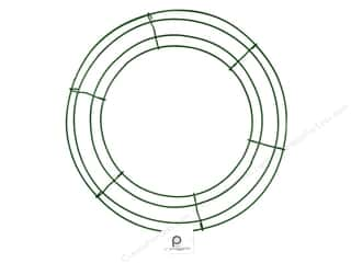 straw wreath: Panacea Box Wire Wreath Frame 12 in. Green (10 pieces)