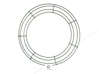 craft & hobbies: Panacea Box Wire Wreath Frame 14 in. Green (10 pieces)