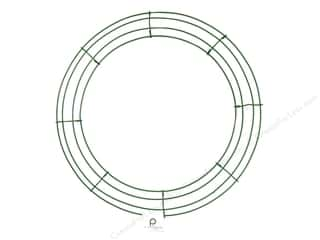 craft & hobbies: Panacea Box Wire Wreath Frame 16 in. Green (10 pieces)