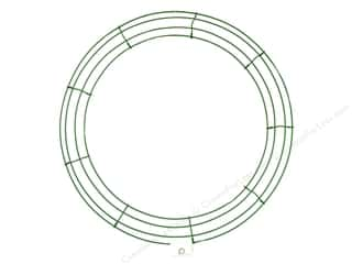 craft & hobbies: Panacea Box Wire Wreath Frame 18 in. Green (10 pieces)