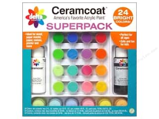 Delta Ceramcoat Acrylic Paint Super Pack - Brights, 24 Colors