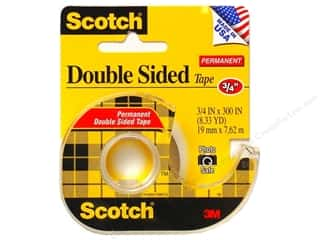 "Scotch Tape Double Sided Permanent 3/4""x 300"""