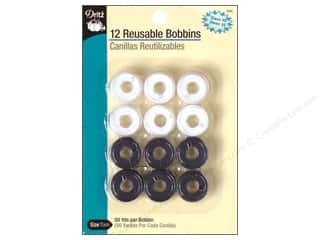 sewing & quilting: Dritz Pre-Filled Bobbins 12 pc. Class 15 White & Black