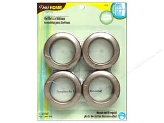 Dritz Home Curtain Grommets 1 9/16 in. Round Pewter 8 pc