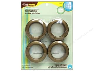 dritz curtain grommets: Dritz Home Curtain Grommets 1 9/16 in. Round Antique Gold 8pc