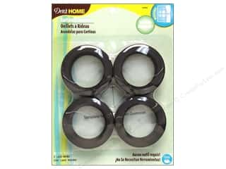 Dritz Home Curtain Grommets 1 9/16 in. Round Black 8pc