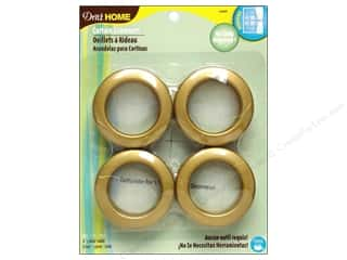 metallic curtain grommets: Dritz Home Curtain Grommets 1 9/16 in.  Round Brass 8pc
