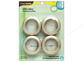 dritz curtain grommets: Dritz Home Curtain Grommets 1 9/16 in. Round Champagne 8pc
