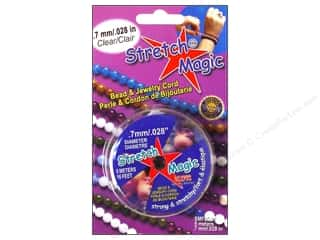 beading & jewelry making supplies: Stretch Magic Beading Cord .7mm x 16.4 ft. Clear