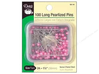 Dritz Long Pearlized Pins Size 24 100 pc. Pink