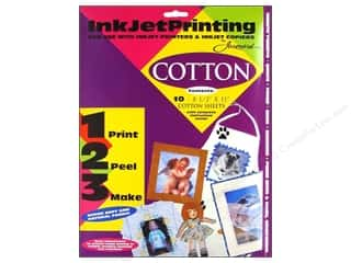 scrapbooking & paper crafts: Jacquard Inkjet Fabric Sheets 8.5 in. x 11 in. Cotton 10 pc