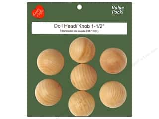 Clearance: Lara's Wood Doll Head Value Pack 1 1/2 in. 7 pc.