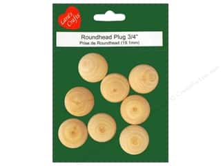 Lara's Wood Roundhead Plug 3/4 in. 8 pc