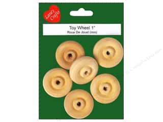 craft & hobbies: Lara's Wood Toy Wheel 1 in. 6 pc.