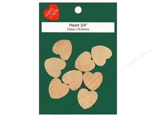 craft & hobbies: Lara's Wood Heart 3/4 in. 8 pc.