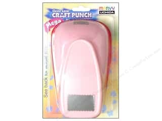 Punches: Uchida Clever Lever Mega Craft Punch 2 1/4 in. Scallop Rectangle