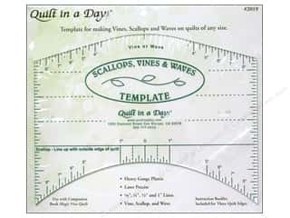 Weekly Specials Guidelines 4 Quilting Tools: Quilt In A Day Ruler Scallops Vines Waves Template