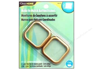 Dritz Home Make to Match Cover Button Frame Gold
