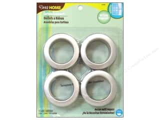 dritz curtain grommets: Dritz Home Curtain Grommets 1 9/16 in Round Brushed Silver 8pc