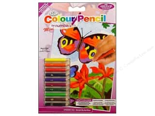 Royal Color Pencil by Number Mini Butterflies